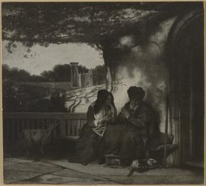 Anna brengt een bokje mee naar huis, Tobit denkt dat zij het gestolen heeft (Tobias 2-3)