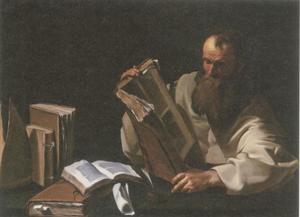 De H. Augustinus (?) lezend