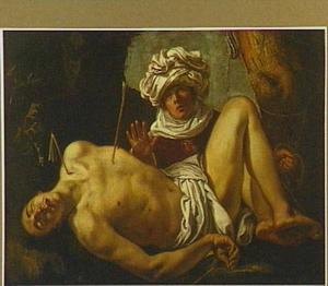 De heilige Sebastiaan verzorgd door de H. Irene