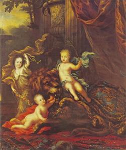 drie kinderen van Karl XI (1655-1697), koning van Zweden