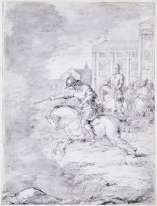 Marcus Curtius springt in de afgrond op het Forum Romanum (Livius 7:6)