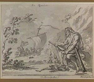 Hercules breekt het roer van een schip