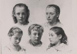 Portret van de kinderen van Abraham Robert Arntzenius (1850-1920)