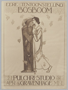 Affiche 'Eere-tentoonstelling Johannes Bosboom 1817-1917'