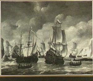 Hollandse walvisvaarders tussen ijsbergen