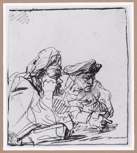 Twee mannen aan een tafel