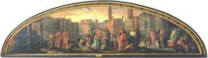 Christus en de cijnspenning van Caesar (Mattheus 22:15-22; Marcus 12:13-17; Lucas 20:20-26) met gezicht op Danzig in de achtergrond