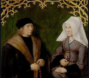 Portret van Dirck Borre van Amerongen en Maria van Snellenberg