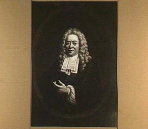 Portret van een man in een geschilderd ovaal, mogelijk Fredericus van Leenhof