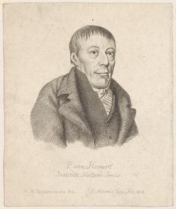 Portret van Paulus van Hemert (1756-1825) (helft van een prent)