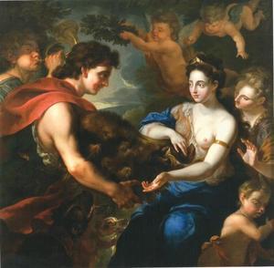 Johann Wilhelm von der Pfalz en Anna Maria Luisa de Medici als Meleager