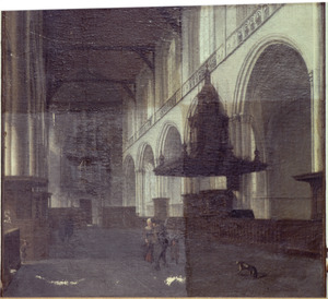Interieur van de Nieuwe Kerk te Amsterdam