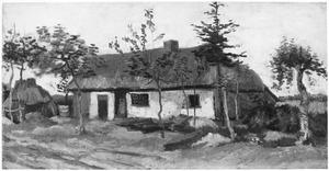 Een arbeiderhuis in een landschap