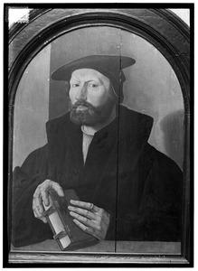 Portret van een man, waarschijnlijk Petrus Nannius (1500-1557)