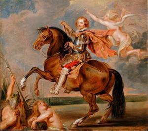 Ruiterportret van George Villiers (1592-1628), hertog van Buckingham