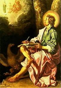 De evangelist Johannes op Patmos