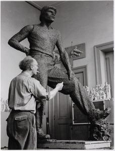 Jan Havermans in zijn atelier
