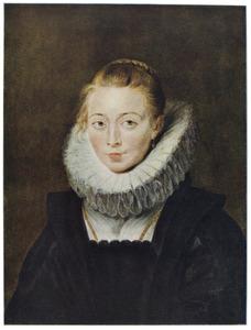Portret van een onbekende hofdame van Isabella Clara Eugenia, Infanta van Spain (1566-1633)