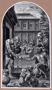 Het voeden van de hongerigen, een van de werken van Barmhartigheid
