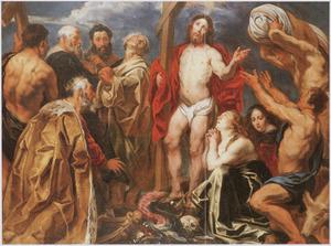 De triomferende Christus met de negen boetvaardige zondaars