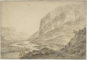Bergachtig landschap met rivier bij Grenoble