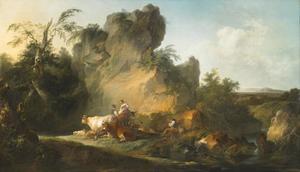 Zuidelijk landschap met herders