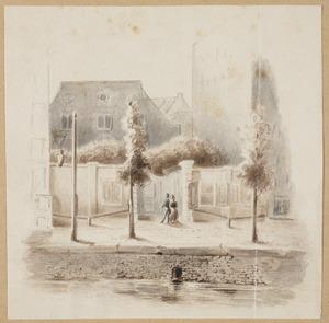 De Doopsgezinde Singelkerk aan het Singel in Amsterdam