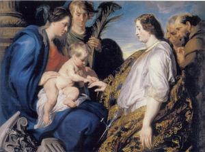 Het mystieke huwelijk van de H. Catharina van Alexandrië