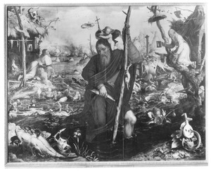 De H. Christoforus draagt het Christuskind