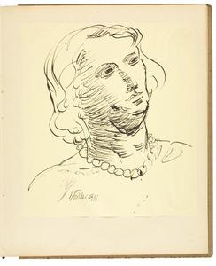 Portret van een jonge vrouw met halsketting