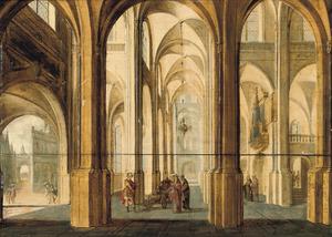 Kerkinterieur met de geschiedenis van Alexander de Grote en de Gordiaanse knoop