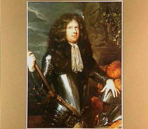 Portret van een man in wapenuitrusting