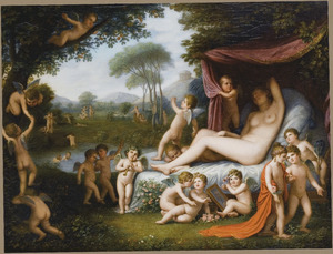 Slapende Venus omringd door putti