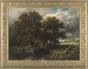 Landschap vóór het onweer (Bentheim)