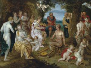 De bestraffing van Midas na de muziekwedstrijd tussen Apollo en Pan