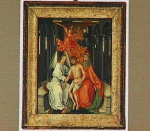 Christus tussen God de Vader en een engel