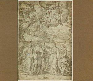 Mythologische voorstelling met Pallas Athene