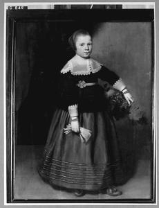Portret van een 8-jarig meisje, mogelijk uit familie Beaumont