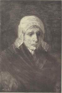 Portret van een oude vissersvrouw