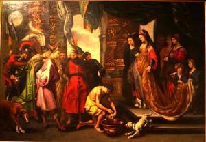 Tomyris met het hoofd van Cyrus