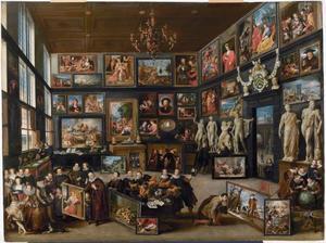 De kunstkamer van Cornelis van der Geest in Antwerpen tijdens het bezoek van de aartshertogen Albrecht en Isabella in 1615