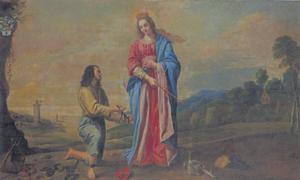 Emmanuel d'Aranda, inwoner van Brugge, brengt de H. Maagd dank voor zijn bevriijding uit Barbarijse slavernij in Algiers (1642)