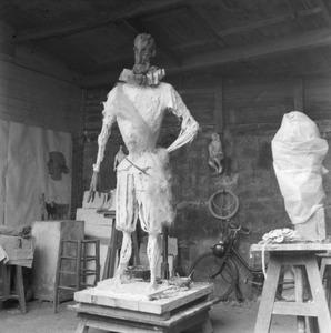 Het atelier van Emmanuel Auricoste te Parijs