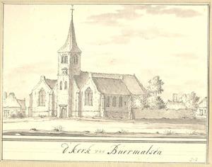Gezicht op de kerk van Buurmalsen