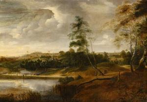 Landschap met vijver