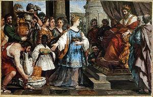 Salomo en de koningin van Sheba