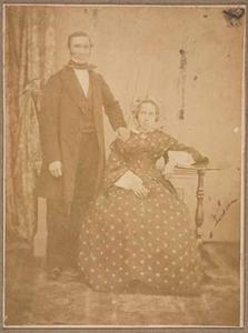 Dubbelportret van Hendrik Brummelkamp (1810-1889) en Elisabeth Wilhelmina van Leeuwen (1813-1870)