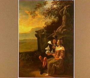 Man en vrouw in een landschap