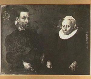 Portret van Gerrit Jacobsz. Schaep (1532-1582)  en Katrijn Simonsdr. Sakema (....-1606)