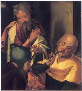 Drie disputerende schriftgeleerden (?)